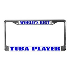 Tuba Player License Plate Frame