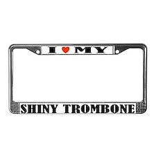 Funny Trombone License Plate Frame