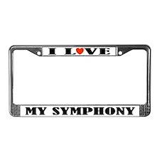 Love My Symphony License Plate Frame