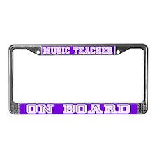 Music teacher License Plate Frame