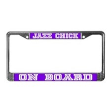 Jazz Chick License Plate Frame