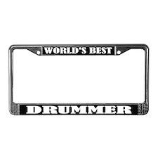 Best Drummer License Plate Frame
