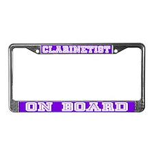 Clarinet License Plate Frame