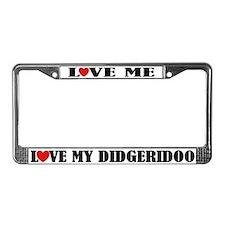 Love My Didgeridoo License Plate Frame