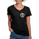 Wilson Badge on Women's V-Neck Dark T-Shirt