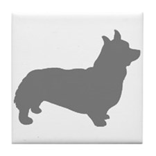 corgi gray 1C Tile Coaster