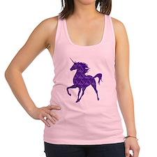 Purple Fire Unicorn Racerback Tank Top