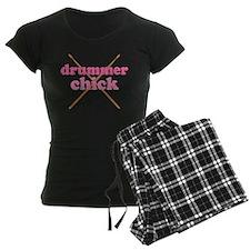 Drummer Chick music Pajamas