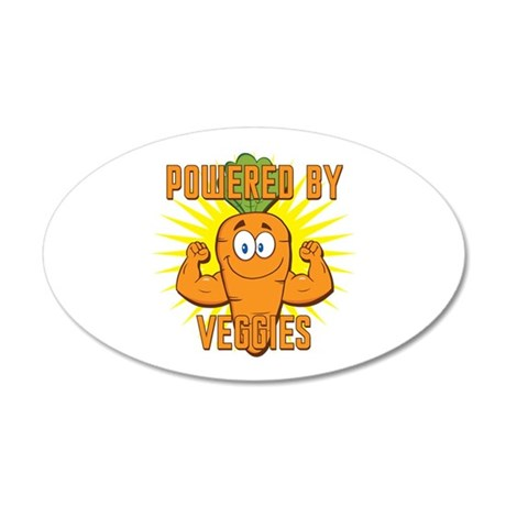 Powered by Veggies 20x12 Oval Wall Decal