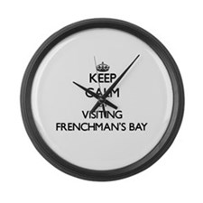 Cute Frenchmans bay Large Wall Clock