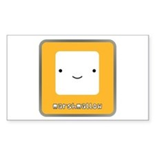 Marshmallow Rectangle Decal