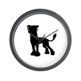 Chinese Crested Silhouette Wall Clock