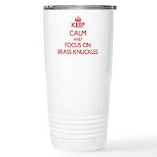 Cute I love brass Travel Mug