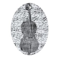 """Sheet Music"" Oval Ornament"