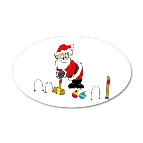 santa croquet with ornaments Wall Decal