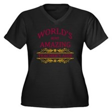 Teacher's Ai Women's Plus Size V-Neck Dark T-Shirt