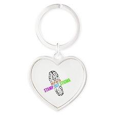 Stamp Out Stigma Heart Keychain
