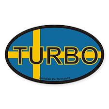 Swedish Turbo Oval Stickers