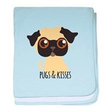 Pugs & Kisses baby blanket