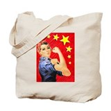 Rosie the Riveter Pop Art Tote Bag