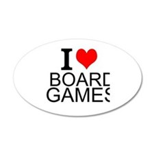 I Love Board Games Wall Decal