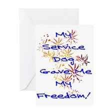 SERVICE DOG FREEDOM Greeting Cards