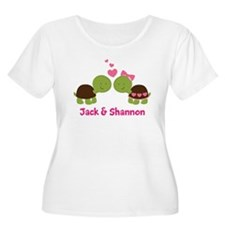 Turtle Couple Personalized Plus Size T-Shirt