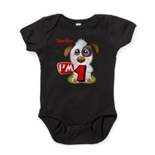 1st Birthday Puppy Baby Bodysuit