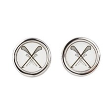 Funny Native american Round Cufflinks