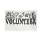 Volunteer Rectangle Magnet (100 pack)