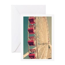 Vintage Ferris Wheel Greeting Cards
