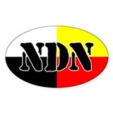 NDN Oval Bumper Stickers