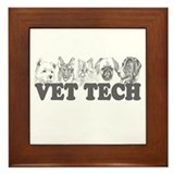 Vet Tech Framed Tile