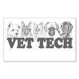 Vet Tech Rectangle Decal