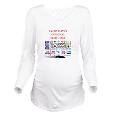 slots Long Sleeve Maternity T-Shirt