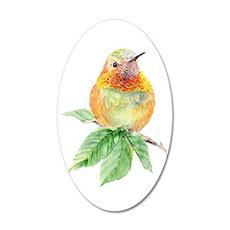Rufous Hummingbird 20x12 Oval Wall Decal