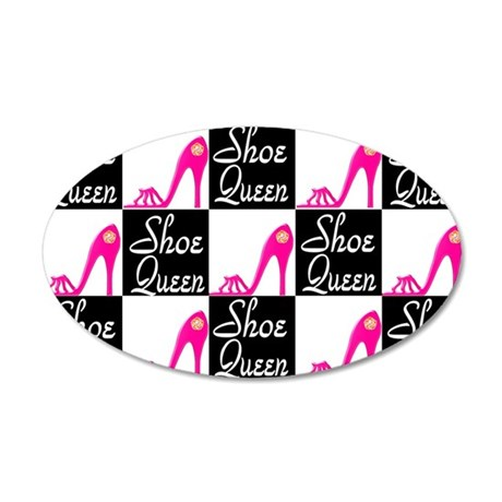 SHOE LOVER 20x12 Oval Wall Decal