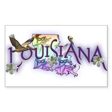 Louisiana Rectangle Decal