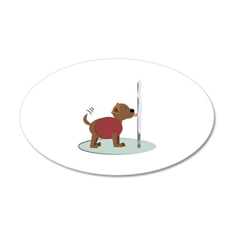 Winter Doggy Pole Wall Decal