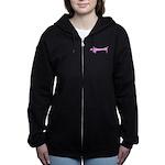 Pink dachshund Women's Zip Hoodie