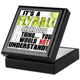 Flyball Height Dog Thing Keepsake Box