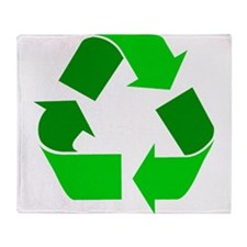 green recycle symbol.png Throw Blanket