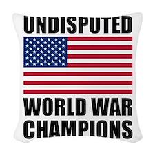 World War Champions Woven Throw Pillow