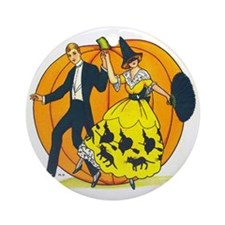 Vintage Halloween Costume Ball Round Ornament