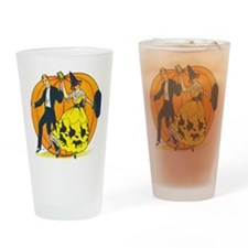 Vintage Halloween Costume Ball Drinking Glass