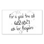 Avogadro Graffiti Rectangle Sticker