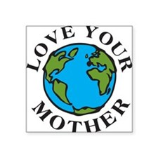 "Cute Environmental protection Square Sticker 3"" x 3"""