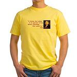 Ignorant & Free Yellow T-Shirt