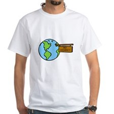 planet earth with no vacancy sign hung.png T-Shirt