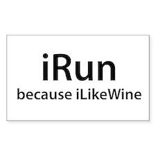 iRun because I Like Wine Decal